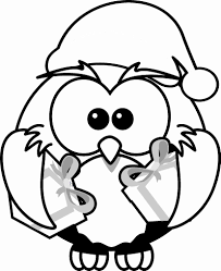 Christmas Bird For Girls Cute Animal Coloring Pages