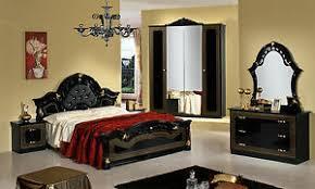 details zu schlafzimmer komplett set schwarz gold hochglanz italienische klassische möbel