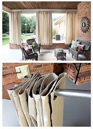 merete pair of curtains 2 panels brown purple beige white bleached