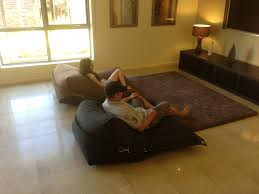 Elegant Oversized Bean Bags Chairs For Adults With Brown Rug Family Room Design