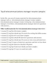Sample Resume For Telecom Manager Plus Telecommunications Resume To