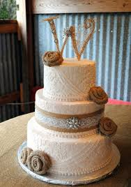 Lovely Idea Rustic Burlap Wedding Cake Interesting Design Best 25 Cakes Ideas On Pinterest
