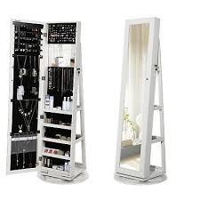 schmuckschrank spiegelschrank abschließbar um360 drehbar mit leiterregal jbc62w ebay