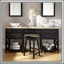 double sink bathroom vanity with makeup table sinks and faucets