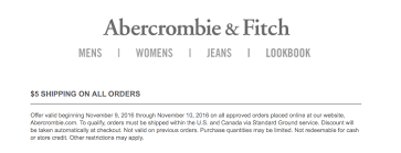 Abercrombie And Fitch Coupons Free Shipping : Discount Coupon Lowes ... Abercrombie Survey 10 Off Af Guideline At Tellanf Portal Candlemakingcom Fgrance Discounts Kids Coupons Appliance Warehouse Coupon Code Birthday September 2018 Whosale Promo For Af Finish Line Phone Orders Gap Outlet Groupon Universal Orlando Fitch Boys Pro Soccer Voucher Coupon Code Archives Coupons For Your Family Express February 122 New Products Hollister Usa Online Top Punto Medio Noticias Pacsun 2019