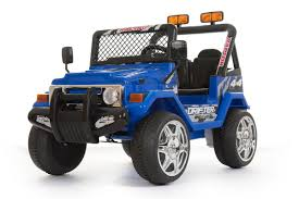 Kids Electric Ride On 4x4 Truck / Jeep / Blue: Amazon.co.uk: Toys ... 12v Ride On Truck Car Kids Gmc Sierra Denali Vehicle Powered Amazoncom Kid Trax Red Fire Engine Electric Rideon Toys Games Magic Cars Big Seater Mercedes Remote Control W Parent Black Best Choice Radio Flyer Bryoperated For 2 With Lights Ford Ranger Wildtrak Xls Battery Jeep Blue Aosom 2in1 F150 Svt Raptor Step2 Jeronimo Monster And Transformers Style Childrens Power Wheels My First Craftsman 6v