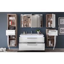 badmöbel badezimmer relax 6tlg set in hochglanz weiss inkl waschbecken