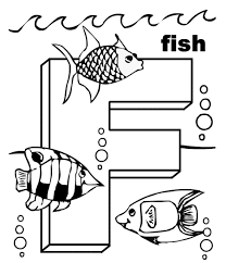 Animal Free Alphabet Coloring Pages Letter F