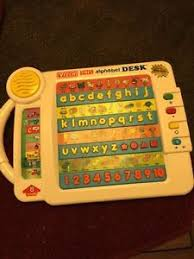 vtech smart alphabet picture desk vintage 1992 vtech talking smart alphabet desk electronic