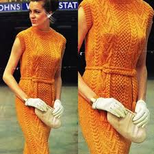 Crochet Black White Dress Vintage Pattern From GrandmaHadItGoinOn