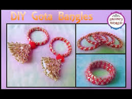 DIY 3 Types Of Handmade Gota Bangles