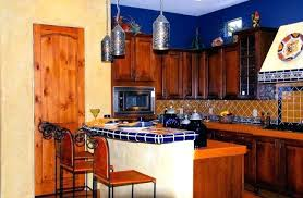 Mexican Style Home Decor Kitchen Decorating Ideas For Small And Blue Wall Paint