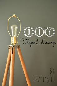 Surveyor Style Floor Lamps by Craptastic Diy Tripod Lamp And Dining Room Update