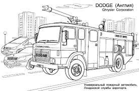 Coloriage Camion Pompier Les Beaux Dessins De Transport À Imprimer