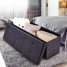costway sitzhocker sitzbank sitztruhe faltbar 114 x 38 x 38cm bis 300kg belastbar sitzbox aufbewahrungsbox sitzwuerfel hocker bank truhe sitzkasten