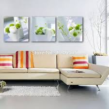 3 stücke große größe moderne home decor wohnzimmer esszimmer wand dekor leinwand wand kunst bild weiß grün blume drucken malerei
