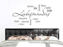 grazdesign schlafzimmer liebesparadies wandaufkleber