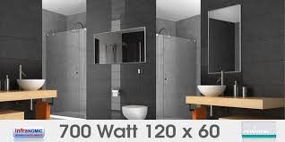 infrarot spiegelheizungen bad 700 watt 120x60