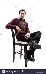Handsome Guy Wearing Business Casual Clothes Sitting On A ...