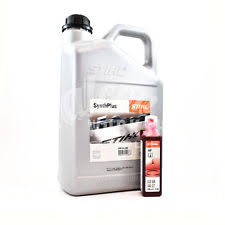 5 LITRE GENUINE STIHL SYNTH PLUS CHAINSAW CHAIN BLADE OIL 100ml TWO STROKE