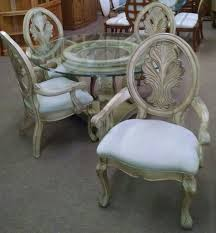 Collezione Europa Bedroom Furniture by Glass Top Dining Set Delmarva Furniture Consignment