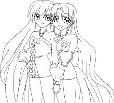 Coloring Page Mermaid Melody Pichi Pitch Cartoons 29