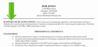 Resume Overview Examples Engne Euforic Co