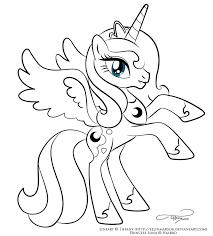 My Little Pony Princess Luna Coloring