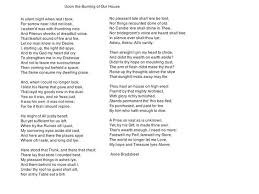 The Burning Bed Cast by Upon The Burning Of Our House By Anne Bradstreet An Amazing Poem