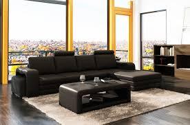 canapé d angle en cuir 5 6 places mobilier privé