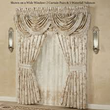 J Queen Brianna Curtains by Laurette Floral Ruffled Flounce Grande Bedspread From J Queen New York