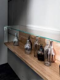 Wall Mounted Wood And Glass Retail Display Case NEST WALL VERSION