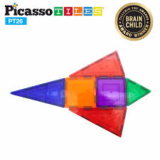 Picasso Magnetic Tiles 100 by Magnetic Gears Toy