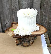 Rustic Wood Cake Stand Natural