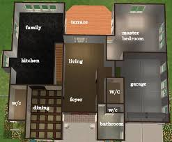 sims 3 4 bedroom house plans house plan