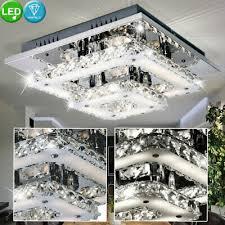 luxus led decken le 18 watt wohnzimmer beleuchtung glas
