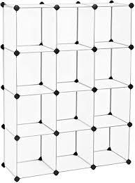 songmics kleiderschrank bücherregal regalsystem ineinandergreifende würfel aus kunststoff einfache montage für wohnzimmer ankleidezimmer