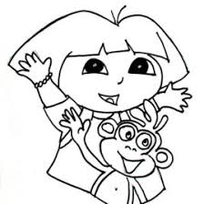 Coloring Pages Dora 02 Free Childrens