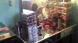 Hayworth Mirrored 3 Drawer Dresser by Hayworth Mirrored Vanity Dupe Youtube