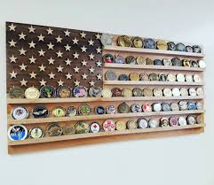 United States Wood Flag Challenge Coin Holder Quick View