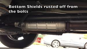 honda cat for how to stop rusted heat shield rattle on a 2009 honda cr v