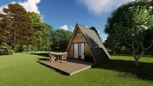 100 Modern Mountain Cabin Mountain Cabin Alpine Style Mobile Home 3D Model 1