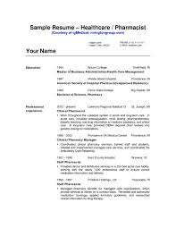 Unique Sample Pharmacist Resume Retail Format Philippines Objective