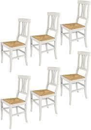 tommychairs 6er set stühle artemisia für küche und esszimmer robuste struktur aus lackiertem buchenholz im shabby chic stil handwerklich antik