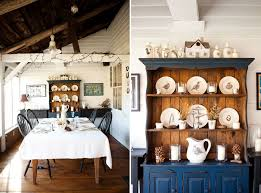 Fabulous Farmhouse Dining Room With A Cool Hutch