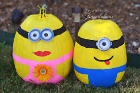 Minion Pumpkin Carvings by Rock Of Minion Stone Painting Art Pinterest Rock And Stone Best