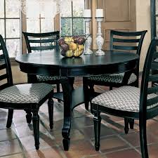 Black Kitchen Table Decorating Ideas by Black Round Dining Table Set Starrkingschool