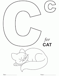 Free Printable Coloring Pages Letter C
