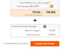 code promo cdiscount frais de port code promo boulanger 22 codes réduction boulanger le monde