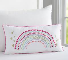 rainbow pillow pottery barn kids
